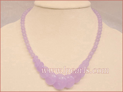 light purple jade beads necklace jewelry