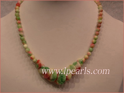 Multi-colors jasper beads jewelry necklace