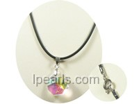 Octagon shaped faceted multicolor crystal Pendant