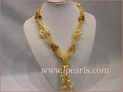 three strands heart glaze braid pearl necklace