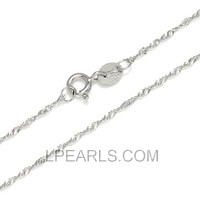 16inch sterling silver wave shape chain for pendant