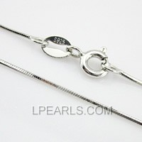16inch 925 sterling silver snake chain for pendant