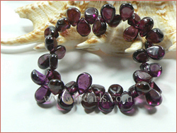 7*10mm fuscous red guava crystal jewelry bracelet wholesale