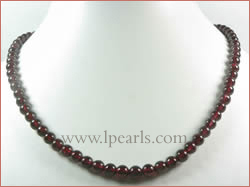 16mm red china garnet crystal necklace wholesale