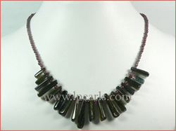16mm green jade crystal crystal necklace wholesale