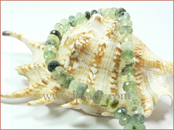 5-8mm bead-shaped green crystal jewelry strands