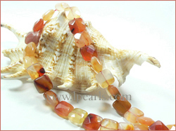12mm faceted red agate beads shaped square jewelry