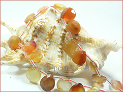 8-12mm pear-shaped red agate strands wholesale