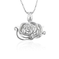 Silver plated Flower locket necklace pendant 5pcs