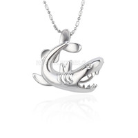 5pcs lower price silver plated fish locket pendant