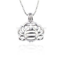 wholesale silver plated Cancer cage pendant 5pcs