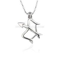 Silver plated sagittarius cage necklace pendant 5pcs