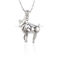 wholesale Silver plated Aries cage necklace pendant 5pcs