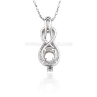 Silver plated violin locket necklace pendant 5pcs