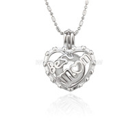 5pcs Silver plated best mom locket necklace pendant