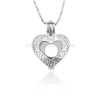5pcs Silver plated heart love locket necklace pendant