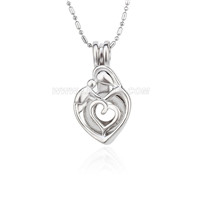 5pcs Silver plated Mother love locket necklace pendant