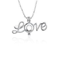 Beautiful design Silver plated Thanks giving Love cage pendant 5