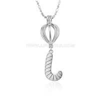 Christmas design Silver plated Christmas stocking cage pendant 5