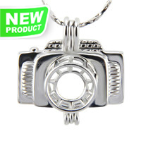 Latest design Silver plated Camera cage pendant 5pcs