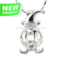 Latest design Silver plated Monkey cage pendant 5pcs