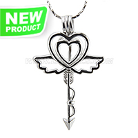 Fashion design Silver plated angel love cage pendant 5pcs