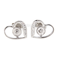 Latest wholesale silver plated Heart design earring fitting