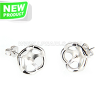 Fashion silver plated Flower design earring fitting