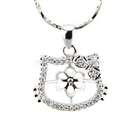 silver plated HelloKitty pearl pendant necklace mounting
