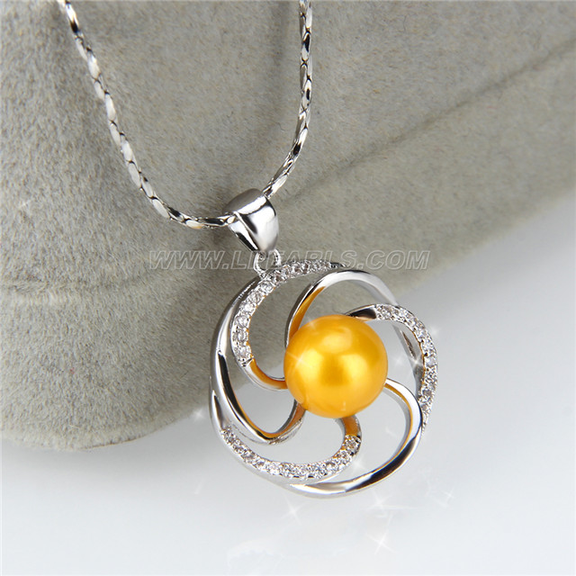 Fashion silver plated wheel pearl pendant necklace mounting lp pearl fashion silver plated wheel pearl pendant necklace mounting aloadofball Image collections