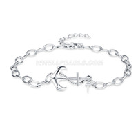 925 sterling silver anchor shape bracelet