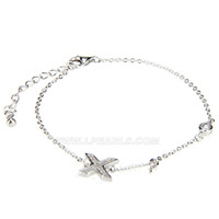 Latest 925 sterling silver bracelet X shape with zircons