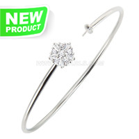 New design 925 sterling silver adjustable Snowflake bracelet fit