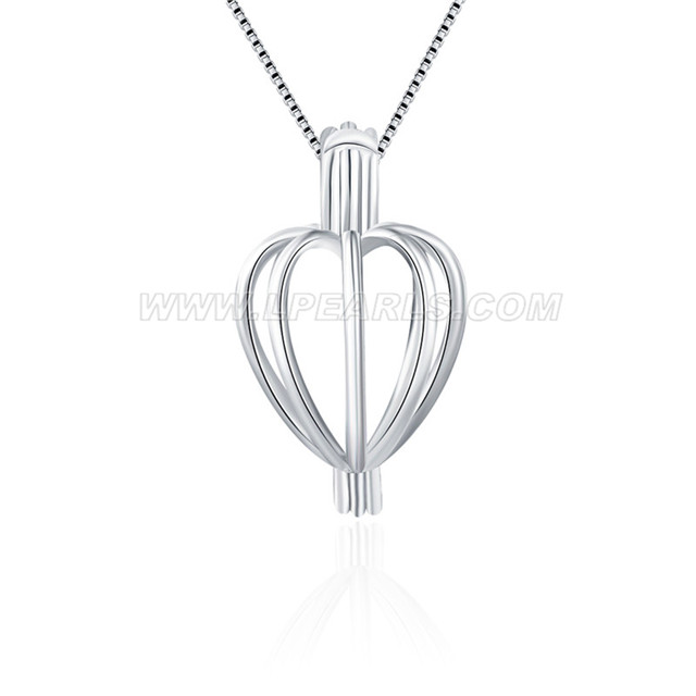 cage shape 925 sterling silver wish pearl pendant accessories