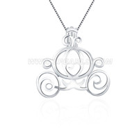wholesale 925 sterling silver carriage cage pendant