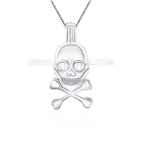 Fashion 925 sterling silver skull cage pendant