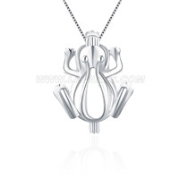 wholesale 925 sterling silver frog cage pendant