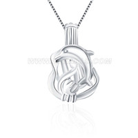 925 sterling silver dolphin locket pendant