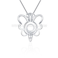 925 sterling silver Butterfly locket pendant
