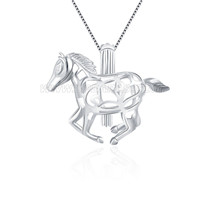 925 sterling silver horse cage pendant
