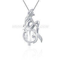 925 sterling silver Mermaid locket pendant