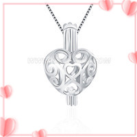 925 sterling silver olympic rings heart cage pendant