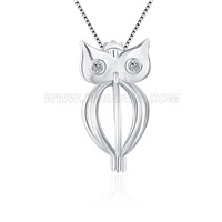 925 sterling silver Owl locket pendant