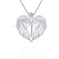 925 sterling silver kissing horses locket pendant