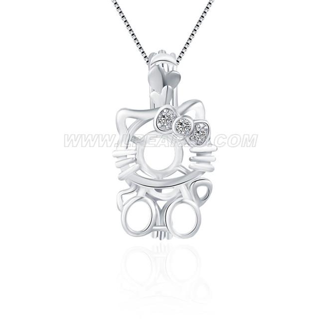 ddac78cd2 925 sterling silver Hello kitty locket pendant LP pearl jewelry store