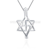 Hexagram 925 sterling silver cage pendant