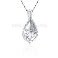 Latest 925 sterling silver water drop cage pendant