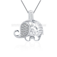 Latest 925 sterling silver elephant cage pendant
