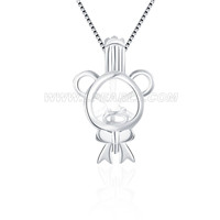 925 sterling silver Bear cage pendant