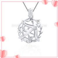 925 sterling silver Cupis's arrow cage pendant